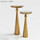 STIDIO IA HOME Minaret Satin Brass Small Accent Table