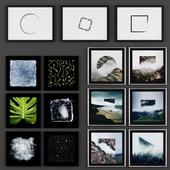 Набор из 15 картин в стиле минимализм