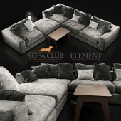 Диван Element Sofa Club Black