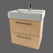 Sink cupboard with 2 drawers
