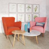 Happy Quartz Rose Armchair