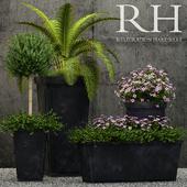 Restoration Hardware paneled sheet metal planters