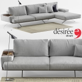 Sofa Desiree Platz Soft, lamp Louis Poulsen AJ, carpet Crate&Barrel
