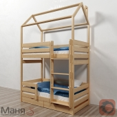 The cot is two-tiered