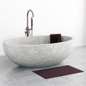 Bathroom stone wite