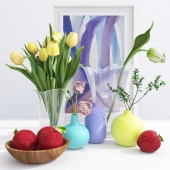 Crate&barrel vases with flowers