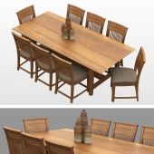 Wooden chair and table