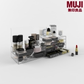 Set of cosmetics, MUJI drawers