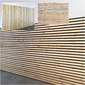 Деревянные рейки 4 варианта