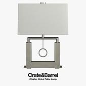 Crate & Barrel - Charles Nickel Table Lamp