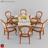 Panamar Table 401.115.P and chair 416.057.P + Laying