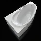 Акриловая угловая ванна Alpen Naos 180