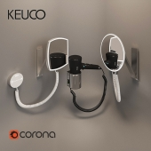 Hair dryer Cosmetic mirror Keuco