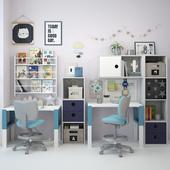 Письменный стол и декор для детской 2