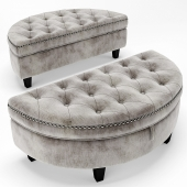 Baldy Tufted Storage Ottoman (re-casting)