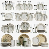 Classic glasses and dishes