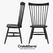 Crate & Barrel - Marlow II Black Wood Dining Chair