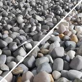 Pebble color road
