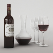Decanter with wine