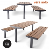 Table and bench mmcite VERA SOLO
