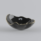 KATHARINE POOLEY ORGANIC BLACK BOWL