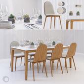 Scandinavian dining set
