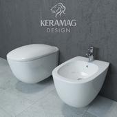 Keramag Citterio hanging toilet and bidet