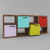 Temahome Storage Boxes with Bookcase