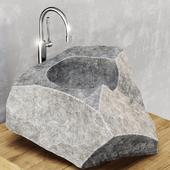 Stone washing bathroom