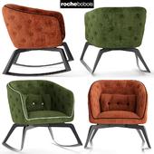 Кресло rochebobois QUADRILLE Rocking armchair