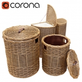 Wicker basket for clothes