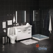 Set of bathroom equipment and accessories for bathrooms