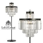 Торшер RH 1920S Odeon Clear Glass Floor Lamp 4 rings