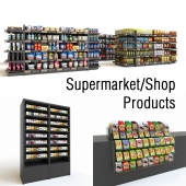 Store Shop Supermarket Products Rack