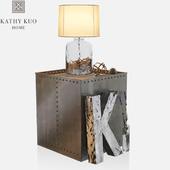 Kathy Kuo-Iron Cube Table