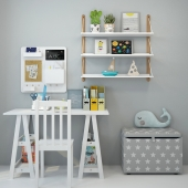 Writing desk and decor for a child 4