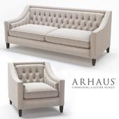 Rylan Upholstered Tufted  Sofa & Chair in Taranto Dove