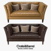Crate & Barrel - Brooks Leather Settee