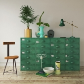 Green decorative loft set