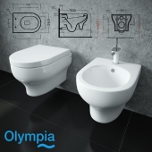Olympia Ceramica Clear sanitary ware