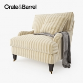 Crate and Barrel Essex Chair with Casters
