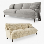 Crate and Barrel Essex Sofa with Casters