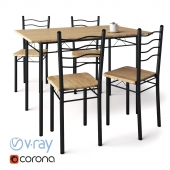 4 chairs + Esprit table