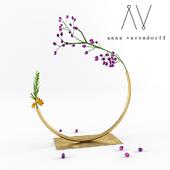 Anna Varendorff brass vase