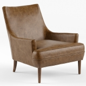 Vanda Camel Brown Leather Armchair
