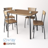 4 chairs + Signal table
