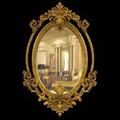 Mirror Oval Brass