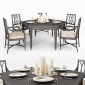 Stanley Furniture обеденный стол и стулья
