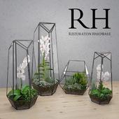 RH FACETED GLASS TERRARIUM