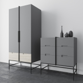 Rosenau wardrobe and Ursula chest of drawers